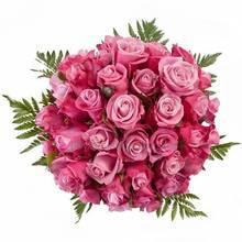 Круглый букет из розовых роз, ледерварена