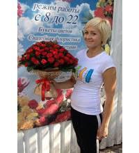 101 червона троянда кур'єрською доставкою по Запоріжжю