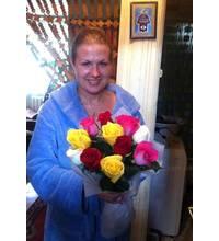 Розы доставлены получательнице в Дубно