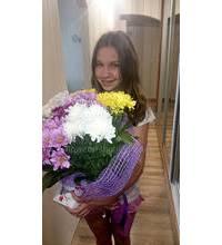 Букет хризантем з доставкою в Барвінкове