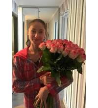 Букет из 51 розовой розы доставлен в Миргороде