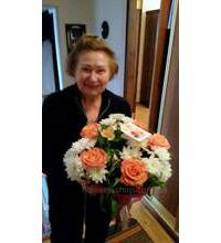 Bouquet of roses and lilies delivered in Kovel