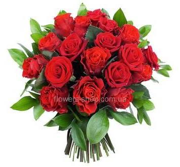 Букет красных роз, без упаковки