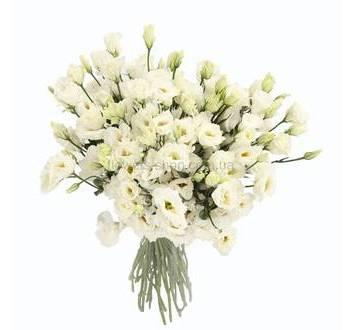 Букет из белых эустом, цветы поштучно