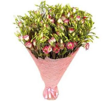 Букет из розовых эустом, поштучно