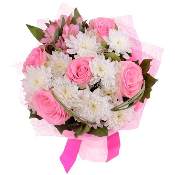 букет из роз фото и хризантем