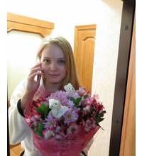 Ассорти из цветов доставлено курьером в Ивано-Франковске