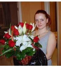 Корзина лилий и роз доставлена в Киеве