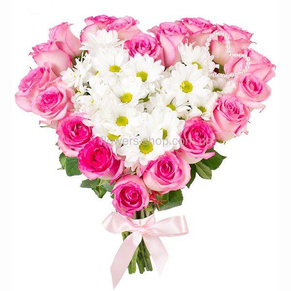 Букет сердце из тюльпанов и роз фото, громадный букет красных роз