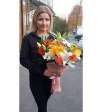 Красивый микс-букет доставлен в Тернополь