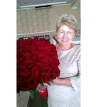 Bouquet of 101 roses delivered in Rovno