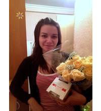 Розы и конфеты доставлены в Горловку