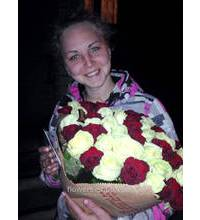 Bouquet of 51 roses delivered to Nikolaev