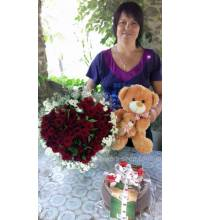 Flowers, a toy and a cake are delivered to Chernivtsi